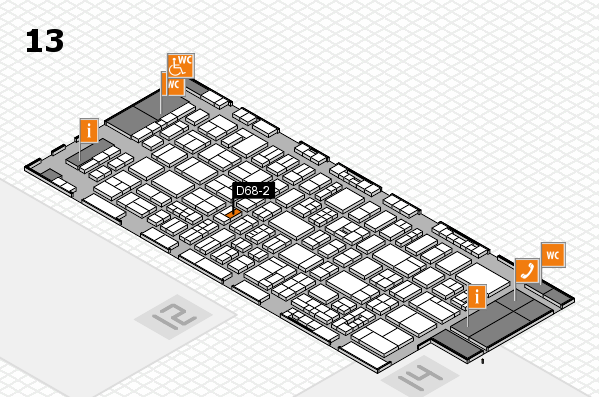 drupa 2016 Hallenplan (Halle 13): Stand D68-2