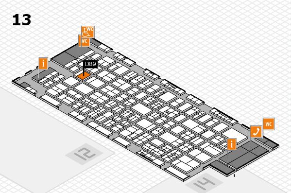drupa 2016 Hallenplan (Halle 13): Stand D89