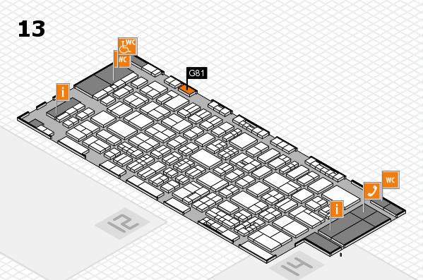 drupa 2016 Hallenplan (Halle 13): Stand G81