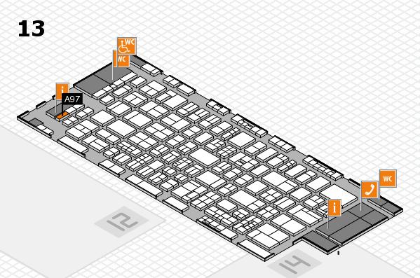 drupa 2016 Hallenplan (Halle 13): Stand A97