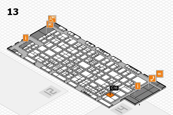 drupa 2016 Hallenplan (Halle 13): Stand C16
