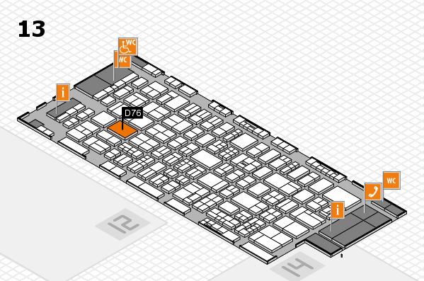 drupa 2016 Hallenplan (Halle 13): Stand D76