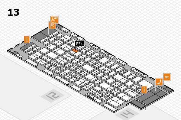 drupa 2016 Hallenplan (Halle 13): Stand F74