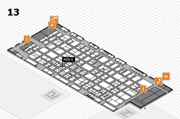 drupa 2016 Hallenplan (Halle 13): Stand A69-5