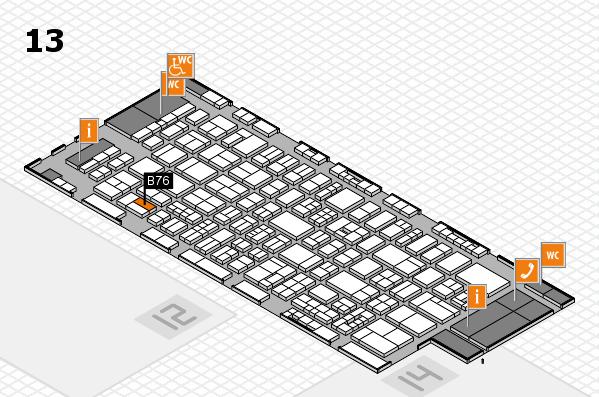 drupa 2016 hall map (Hall 13): stand B76