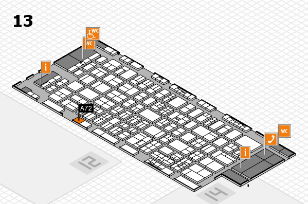 drupa 2016 Hallenplan (Halle 13): Stand A72