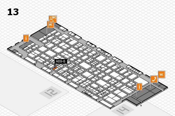 drupa 2016 hall map (Hall 13): stand A69-8
