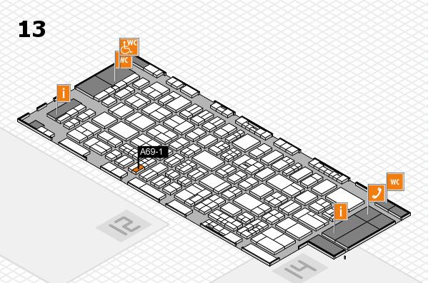 drupa 2016 hall map (Hall 13): stand A69-1