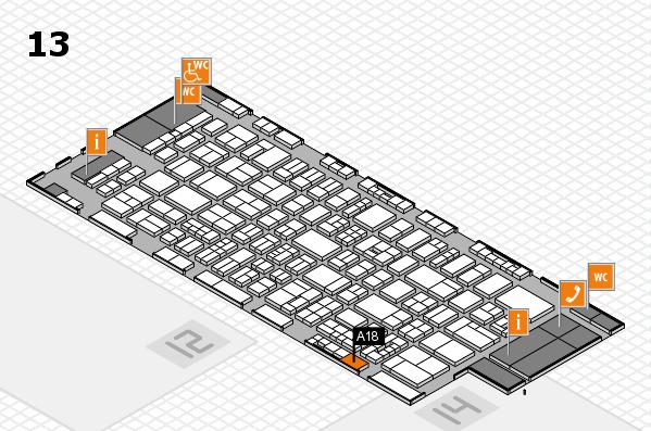 drupa 2016 hall map (Hall 13): stand A18