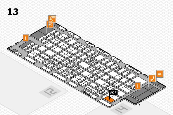 drupa 2016 hall map (Hall 13): stand A07