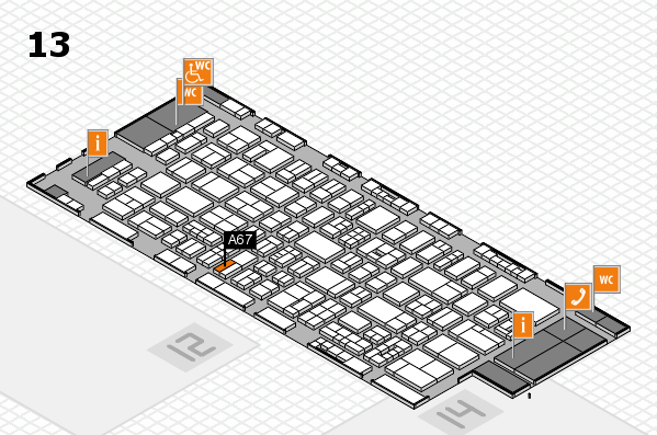 drupa 2016 Hallenplan (Halle 13): Stand A67