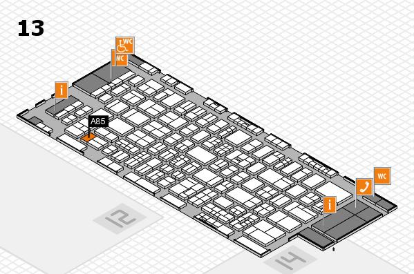 drupa 2016 Hallenplan (Halle 13): Stand A85
