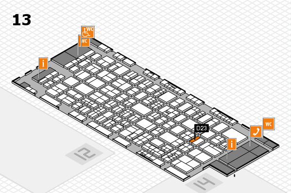 drupa 2016 Hallenplan (Halle 13): Stand D23
