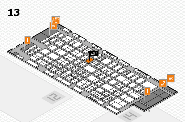drupa 2016 hall map (Hall 13): stand E67
