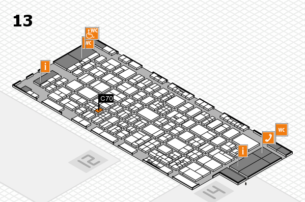 drupa 2016 Hallenplan (Halle 13): Stand C70