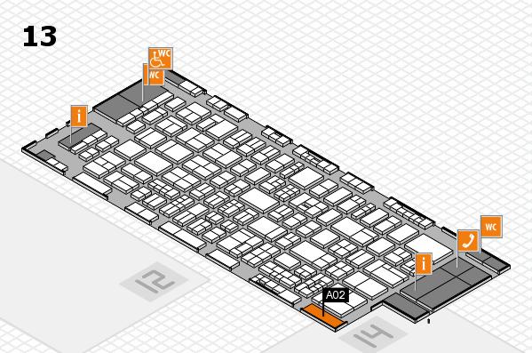 drupa 2016 hall map (Hall 13): stand A02