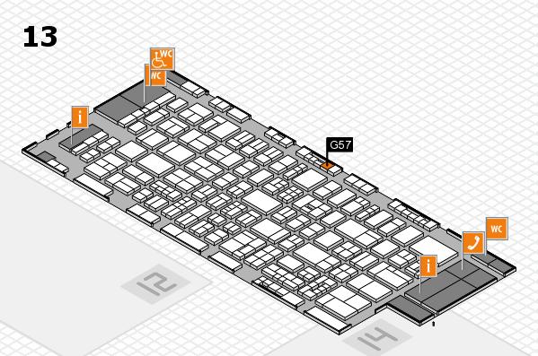 drupa 2016 Hallenplan (Halle 13): Stand G57