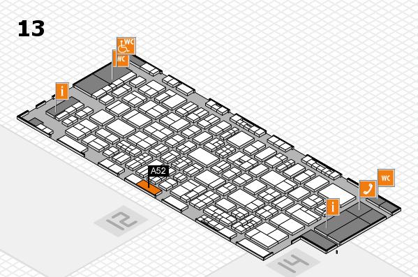 drupa 2016 Hallenplan (Halle 13): Stand A52