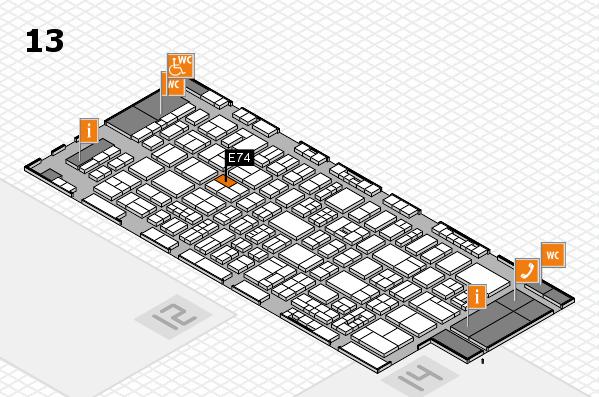 drupa 2016 Hallenplan (Halle 13): Stand E74