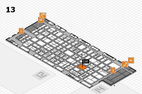drupa 2016 Hallenplan (Halle 13): Stand D36