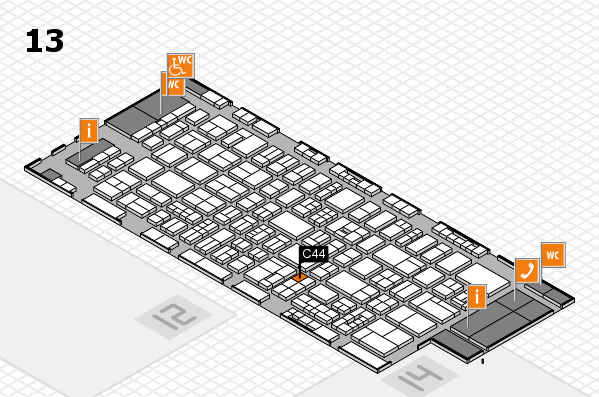 drupa 2016 Hallenplan (Halle 13): Stand C44