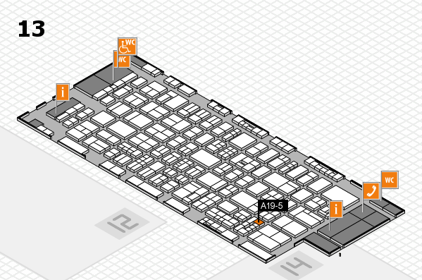 drupa 2016 hall map (Hall 13): stand A19-5