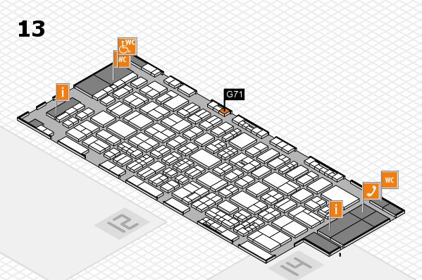drupa 2016 Hallenplan (Halle 13): Stand G71