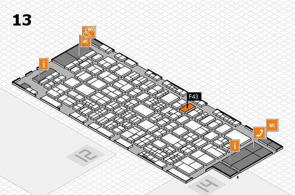 drupa 2016 hall map (Hall 13): stand F43
