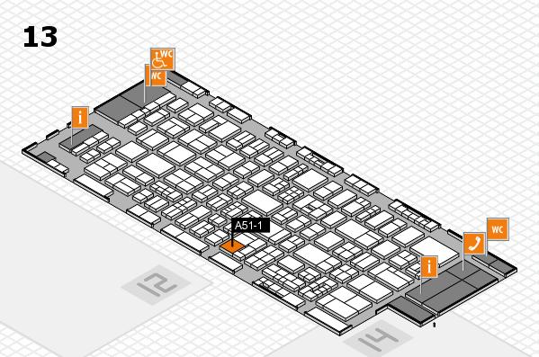 drupa 2016 hall map (Hall 13): stand A51-1