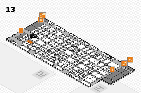 drupa 2016 Hallenplan (Halle 13): Stand C92
