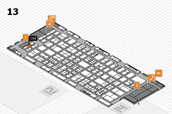 drupa 2016 Hallenplan (Halle 13): Stand C95
