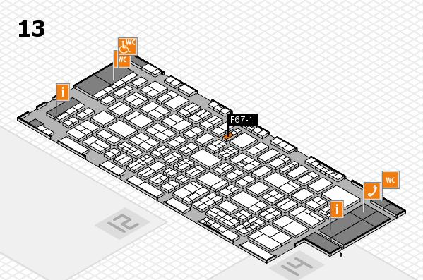 drupa 2016 Hallenplan (Halle 13): Stand F67-1