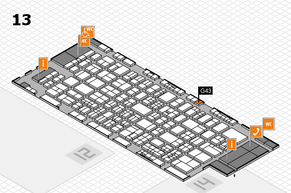 drupa 2016 Hallenplan (Halle 13): Stand G43