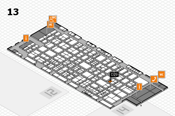 drupa 2016 Hallenplan (Halle 13): Stand D29