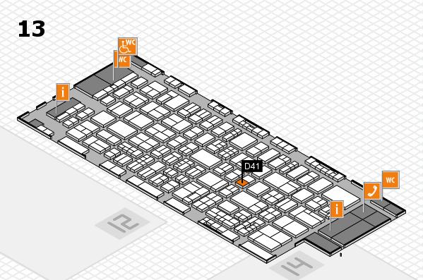 drupa 2016 Hallenplan (Halle 13): Stand D41