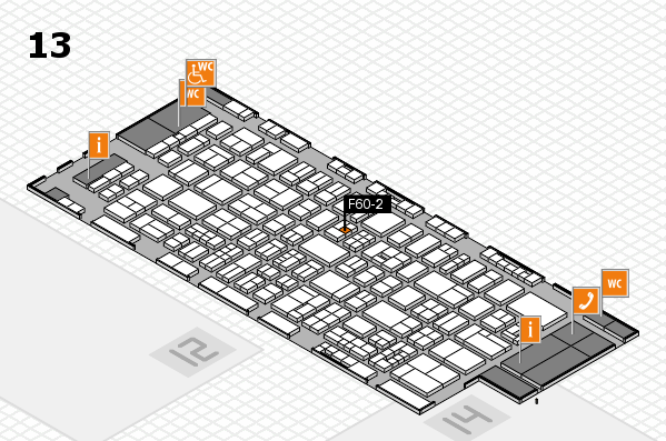 drupa 2016 Hallenplan (Halle 13): Stand F60-2