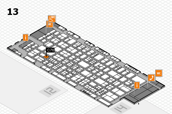 drupa 2016 hall map (Hall 13): stand C76