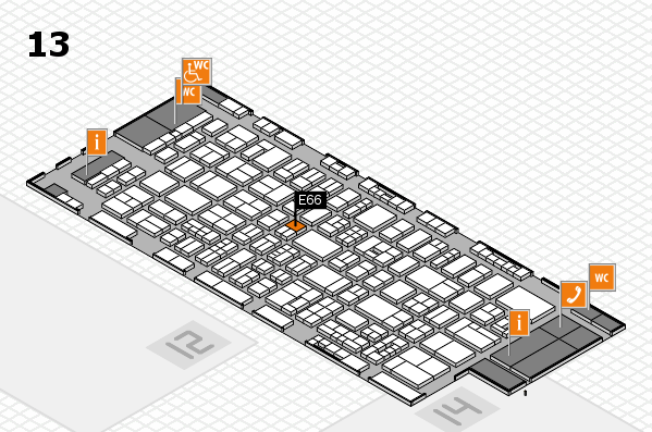 drupa 2016 Hallenplan (Halle 13): Stand E66