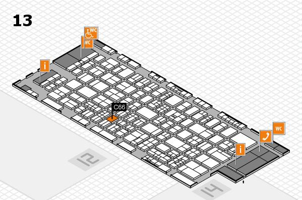 drupa 2016 hall map (Hall 13): stand C66
