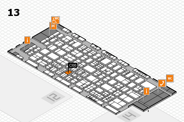 drupa 2016 Hallenplan (Halle 13): Stand C66