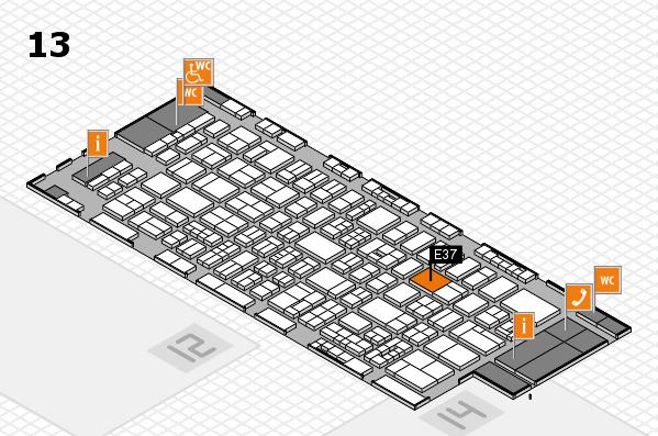 drupa 2016 Hallenplan (Halle 13): Stand E37
