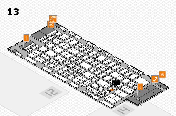 drupa 2016 Hallenplan (Halle 13): Stand C19