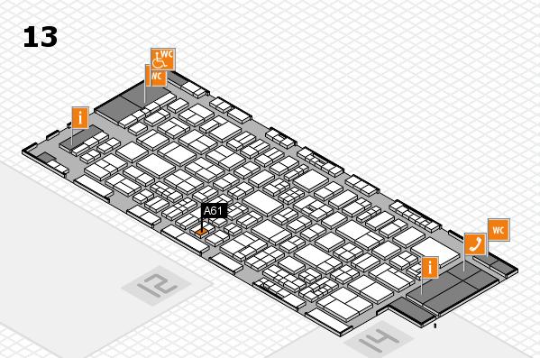 drupa 2016 Hallenplan (Halle 13): Stand A61