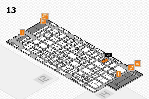 drupa 2016 Hallenplan (Halle 13): Stand F37