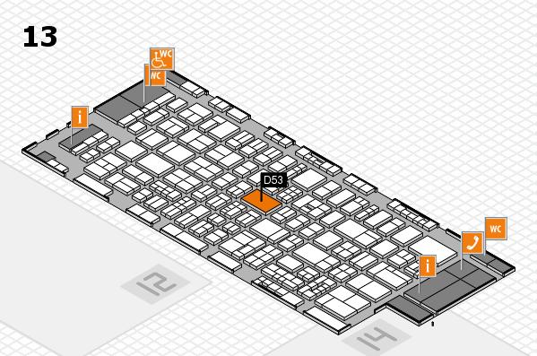 drupa 2016 hall map (Hall 13): stand D53