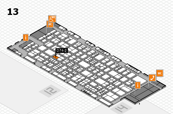 drupa 2016 Hallenplan (Halle 13): Stand D74-2