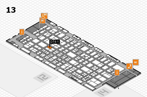 drupa 2016 Hallenplan (Halle 13): Stand D74-1