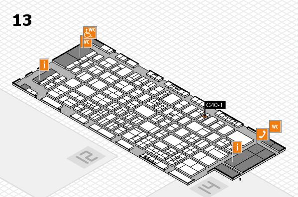 drupa 2016 Hallenplan (Halle 13): Stand G40-1