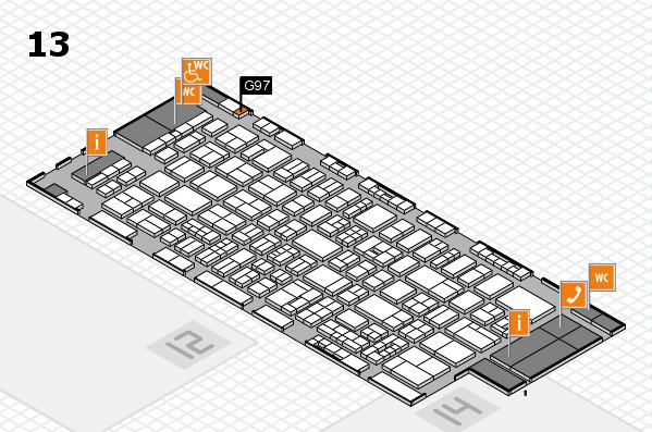 drupa 2016 Hallenplan (Halle 13): Stand G97