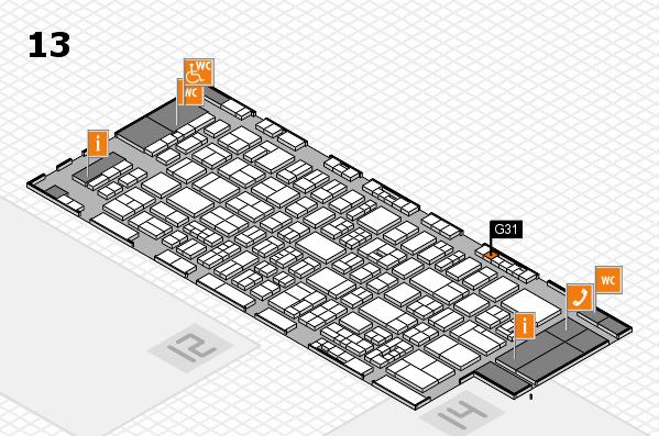 drupa 2016 hall map (Hall 13): stand G31